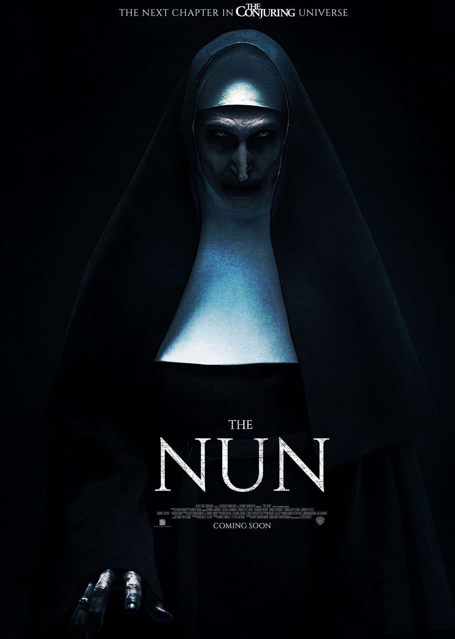 the nun poster 1 - #SDCC18: Director Corin Hardy Talks THE NUN, Growing THE CONJURING Universe, And Spooky Romanian Monasteries