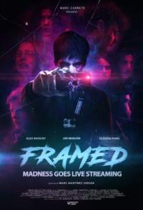 FRAMED poster official png 204x300 - Popcorn Frights 2018: FRAMED Review - A Blood-Curdling Cautionary Tale For Social Media Fiends
