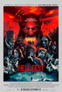 Hell fest poster 203x300 - New HELL FEST Poster is Fun Going In But Hell Getting Out