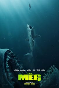 The Meg 2018 movie poster 202x300 - THE MEG Review - A Little Long in the Tooth But Still a Damn Good Time