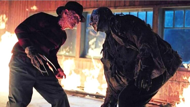 Freddy vs Jason Climax 750x422 - In Extremely Rare On-Set Interview, Robert Englund Explains Why Kane Hodder Wasn't Cast in FREDDY VS. JASON