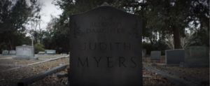 JudithMyersTombstone 300x123 - Exclusive: Judith Myers Speaks! HALLOWEEN's Sandy Johnson Gives First Interview in Forty Years!
