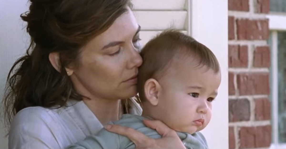 TWD S9 Maggie and Baby - Glenn & Maggie's Baby Makes Appearance in Latest Trailer for THE WALKING DEAD Season 9