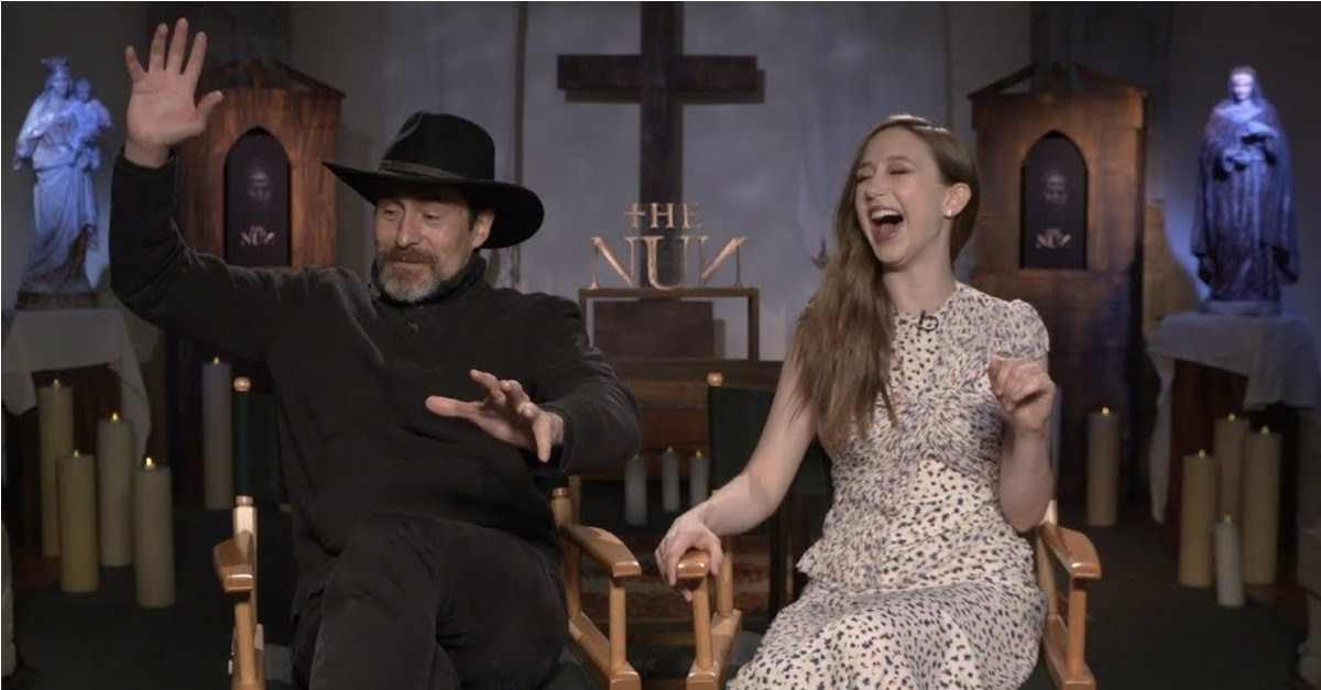 The Nun 2018 Press Junket - Demián Bichir Talks About Religion, Faith, & Being Buried Alive for THE NUN