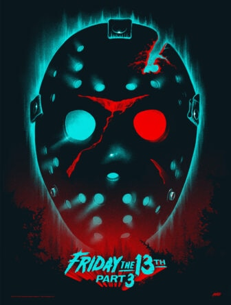 """Mondo Friday the 13th in 3D regular 336x445 - Exclusive Interview with Renowned Horror Artist """"Ghoulish"""" Gary Pullin"""