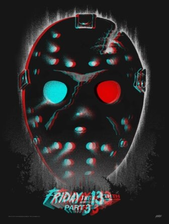"""Mondo Friday the 13th in 3d variant 336x445 - Exclusive Interview with Renowned Horror Artist """"Ghoulish"""" Gary Pullin"""