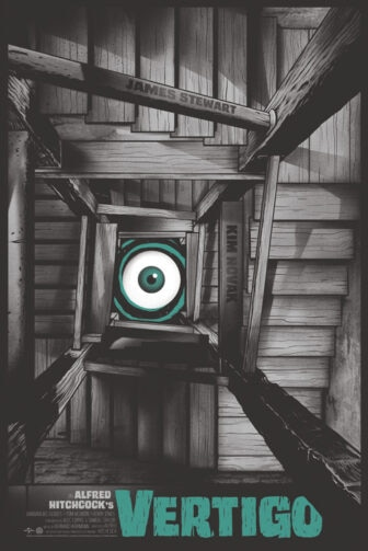 """Mondo Vertigo Stairs lo res 336x503 - Exclusive Interview with Renowned Horror Artist """"Ghoulish"""" Gary Pullin"""