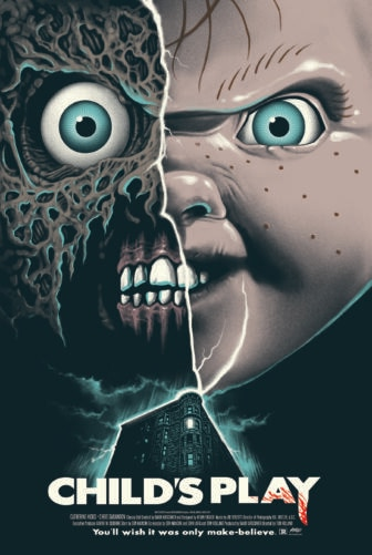 """Mondo childs play  336x501 - Exclusive Interview with Renowned Horror Artist """"Ghoulish"""" Gary Pullin"""