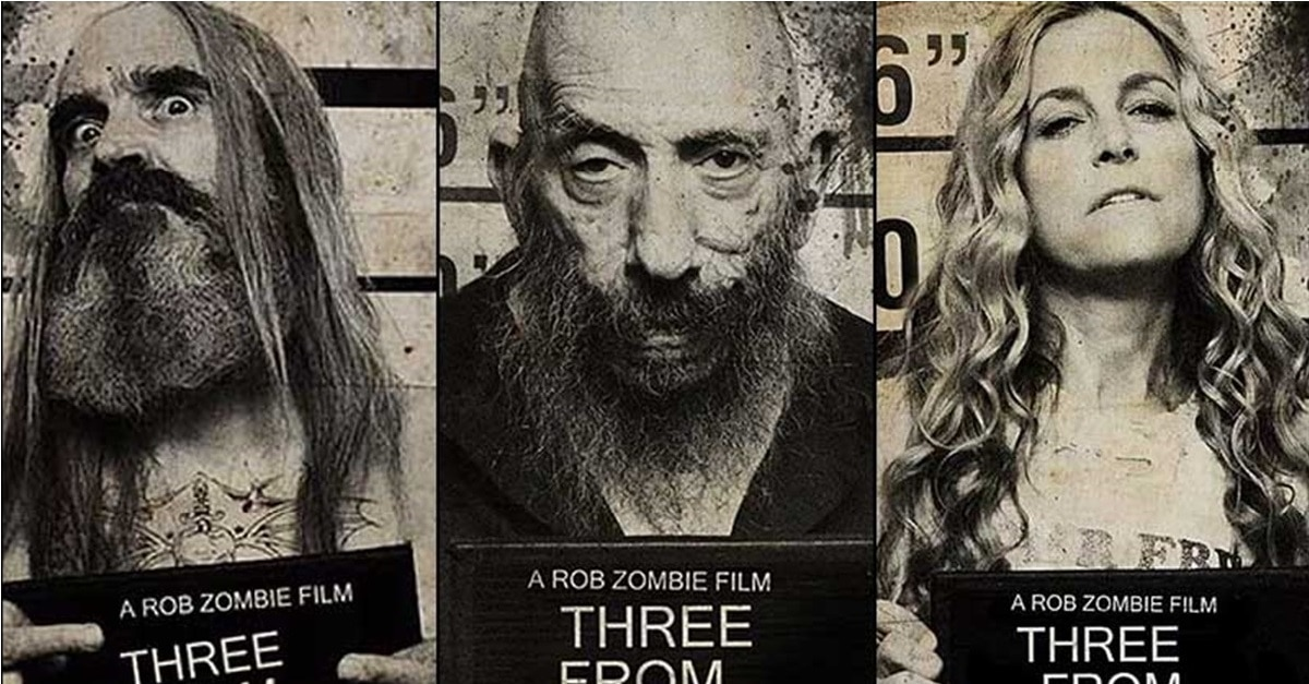 3 From Hell Mugshots  - Limited Edition THREE FROM HELL T-Shirts Now Available