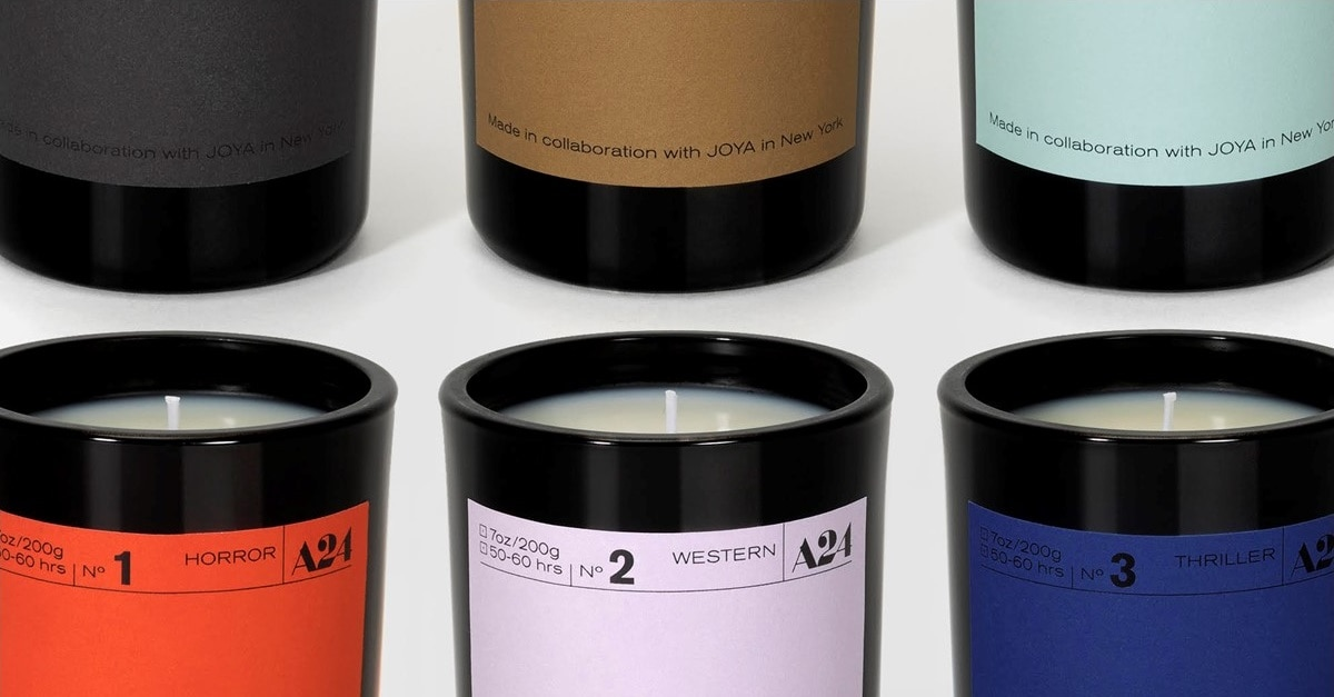 A24 Scented Candles - The Smell of Horror? A24 Releases Series of Cinema Scented Candles