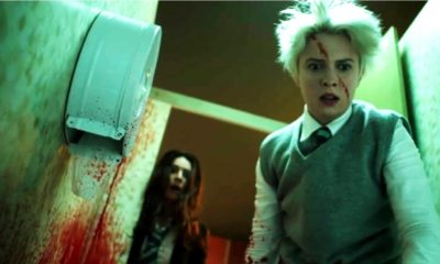 Anna and the Apocalypse 400x240 - Zombies Bloody Up a Bathroom in Gross Clip from ANNA AND THE APOCALYPSE