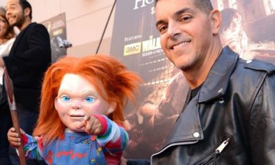 Chucky and Mancini 400x240 - Don Mancini Describes Original BLOOD BUDDY Concept That Became CHILD'S PLAY
