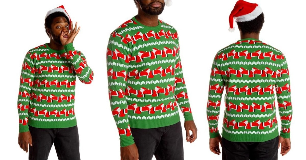 human santapede human santapede is the bestworst ugly christmas sweater in history - The Best Ugly Christmas Sweaters