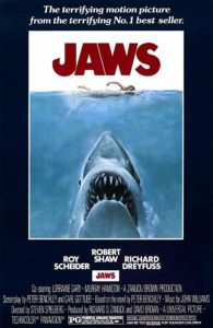 Jaws 1978 195x300 - You'll Never Guess Which SIMPSONS Voice Actor was On the Beach in JAWS—Kind Of