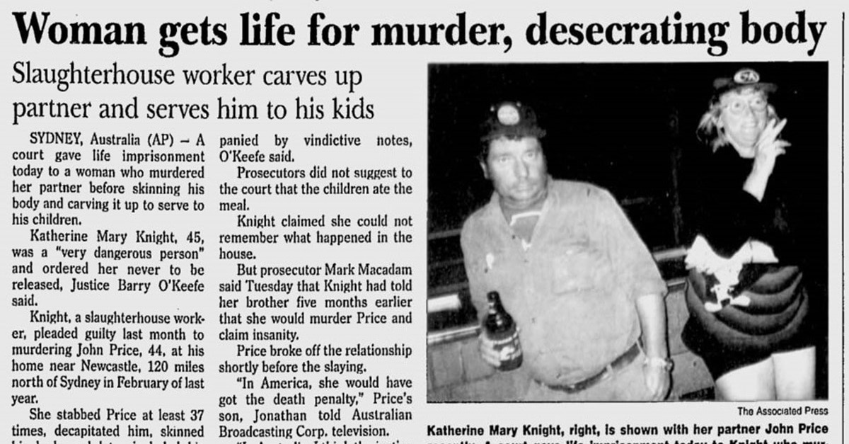 Katherine Knight - Wife Kills Husband & Serves Him for Dinner: Real Life Tale of Australian Cannibalism to be Feature Film