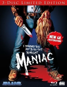 Maniac Blue Ray reissue - Special Features Announced for New MANIAC Limited Edition 3-Disc 4K Restoration