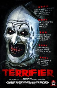 "Terrifier 2018 Poster 197x300 - TERRIFIER Star Was Initially Horrified by ""Grotesque"" Script"