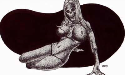 Zombie Pin Up 400x240 - (NSFW) Scared Stiff? Horror Artist Rob Sacchetto's Zombie Pin-Ups are Horrific & Sexy