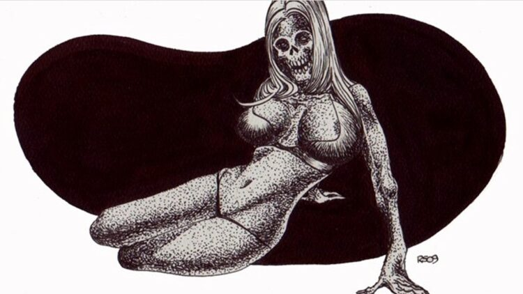 Zombie Pin Up 750x422 - (NSFW) Scared Stiff? Horror Artist Rob Sacchetto's Zombie Pin-Ups are Horrific & Sexy