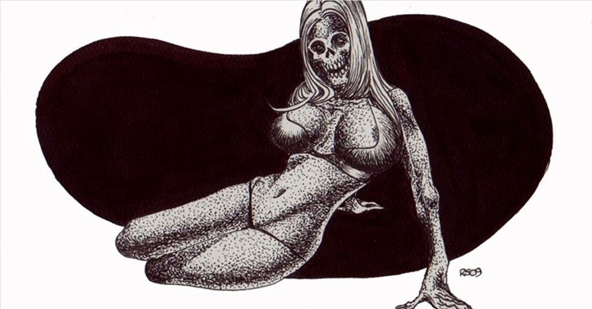 Zombie Pin Up - (NSFW) Scared Stiff? Horror Artist Rob Sacchetto's Zombie Pin-Ups are Horrific & Sexy