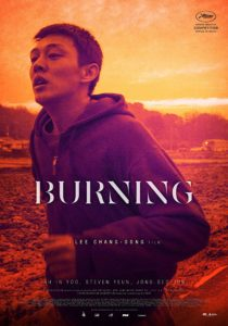burningposter 210x300 - Interview: Steven Yeun on BURNING, Channeling His South Korean Heritage, and What's Next