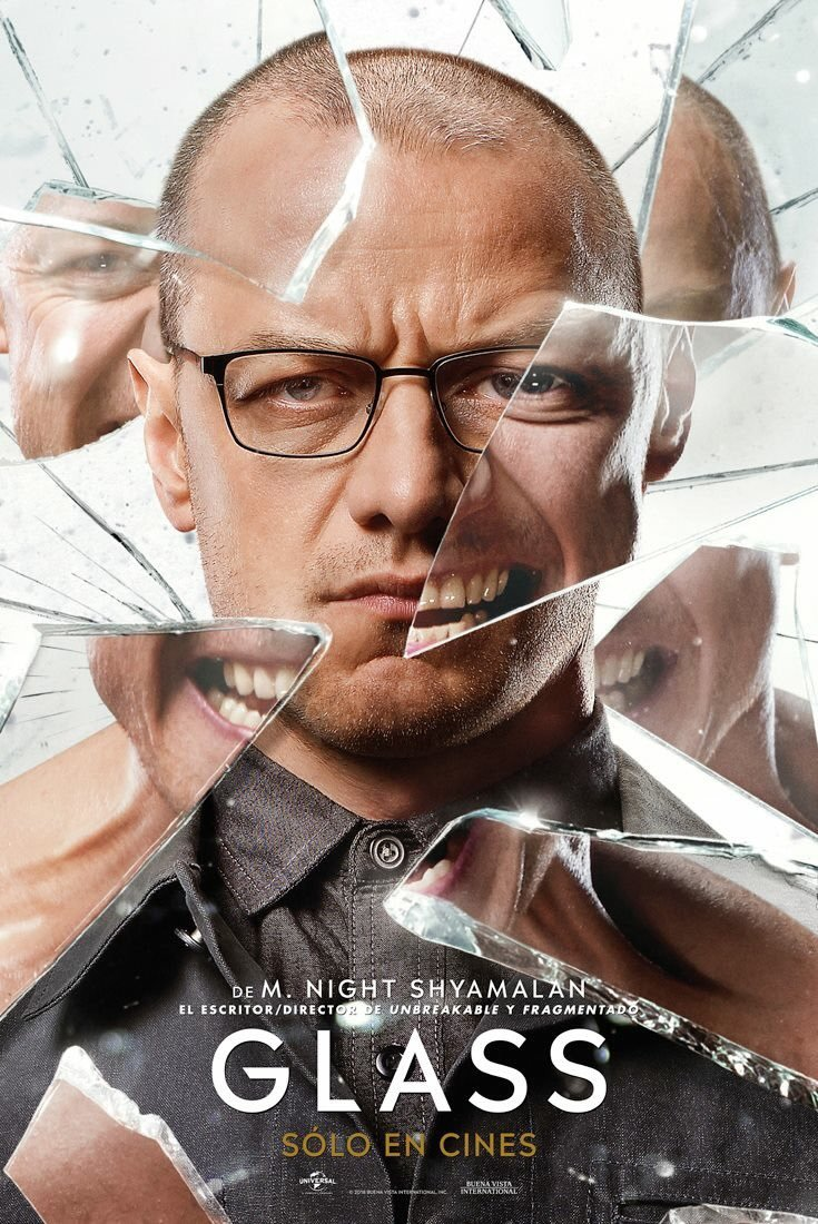 glass poster 3 - New Series of International Posters Highlight Main Cast of GLASS