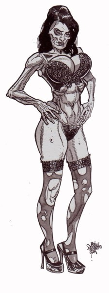 zombie art pinup 251 - (NSFW) Scared Stiff? Horror Artist Rob Sacchetto's Zombie Pin-Ups are Horrific & Sexy