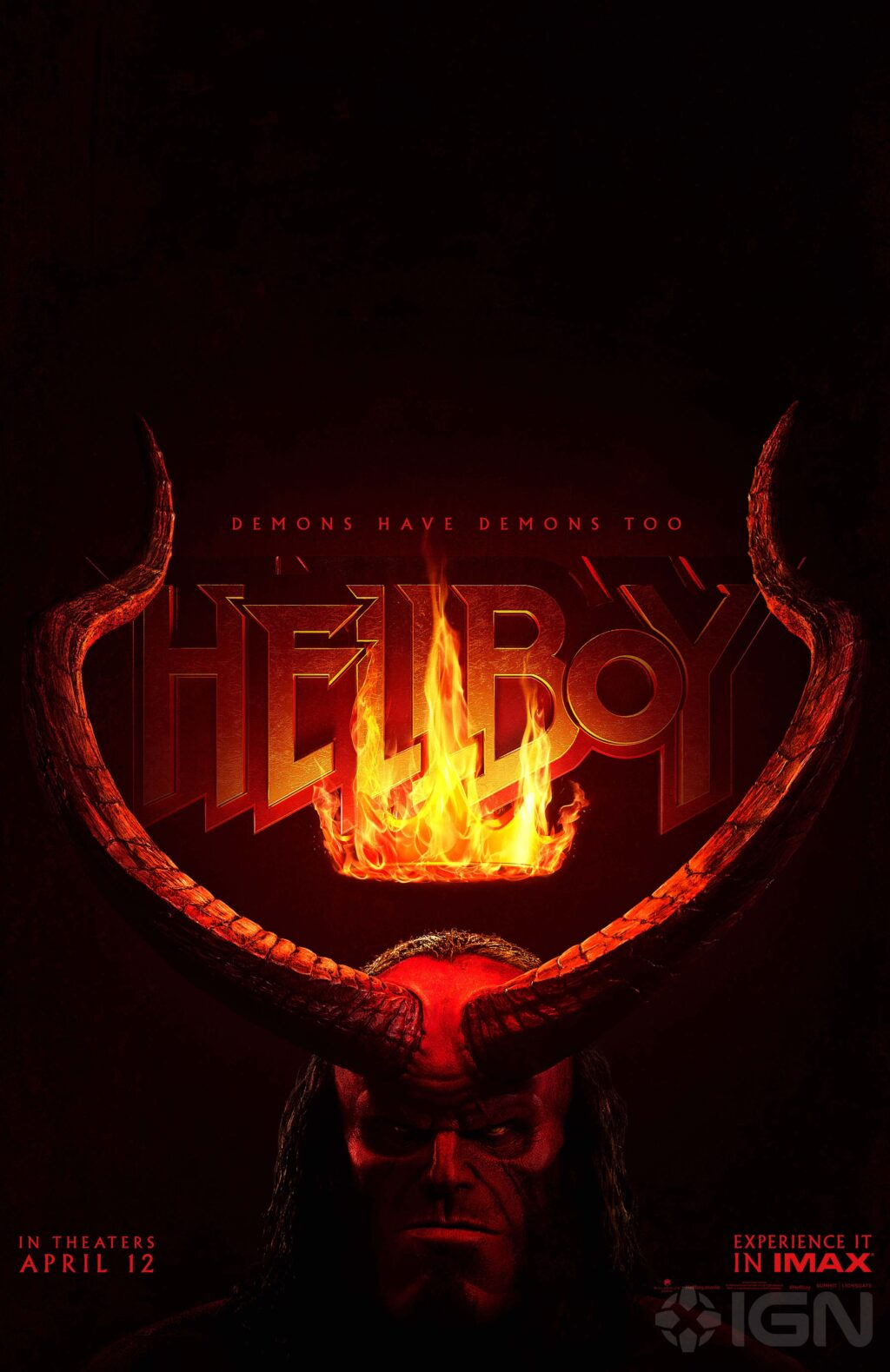 Hellboy 2019 Poster 2 1024x1579 - HELLBOY Shows His Horns in Latest Poster + Trailer Release Date Announced