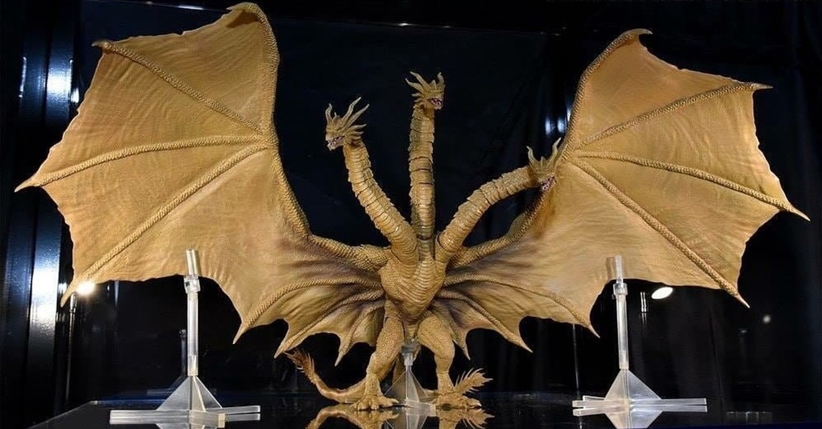 King G - GODZILLA: KING OF THE MONSTERS Toys Reveal Creature Design for King Ghidorah, Rodan & Mothra