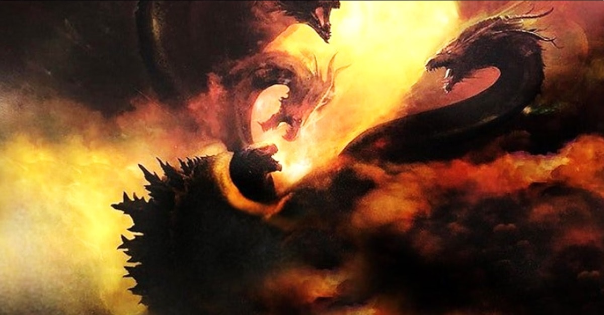 King Ghidorah - (Spoilers) Concept Art from Tokyo Comic-Con Reveals Major Clashes in GODZILLA: KING OF THE MONSTERS