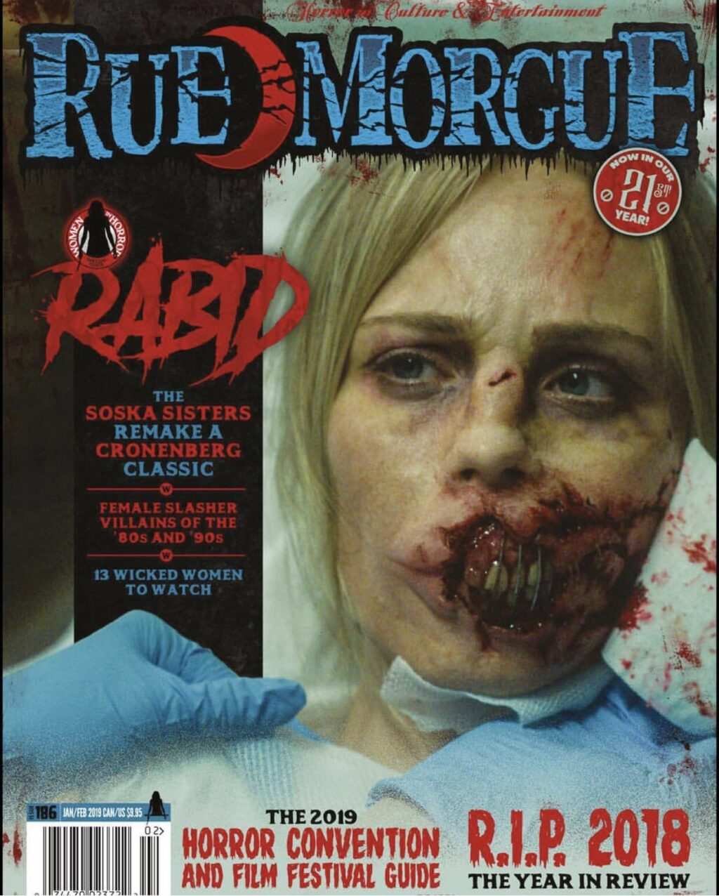 Rabid Rue Morgue Magazine 1024x1276 - Seriously Grotesque Image from Soska Sisters' RABID Makes Cover of Rue Morgue Magazine