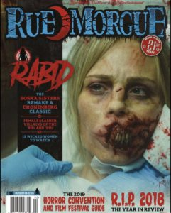 Rabid Rue Morgue Magazine 241x300 - Images from RABID Remake Get Soska Sisters Suspended from Twitter