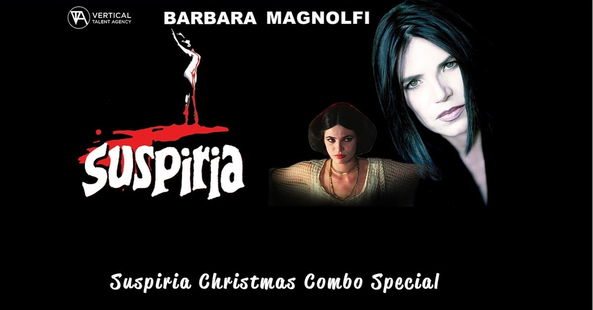 Suspiria Combos - VTA Has Christmas Combos featuring Original SUSPIRIA Actress Barbara Magnolfi