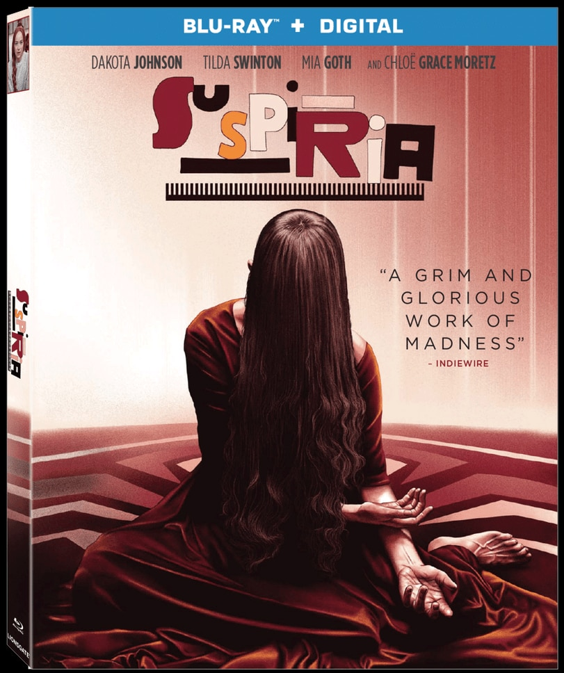 suspiria blu ray - Cover Art + Special Features Announced for SUSPIRIA Blu-ray/DVD Coming January