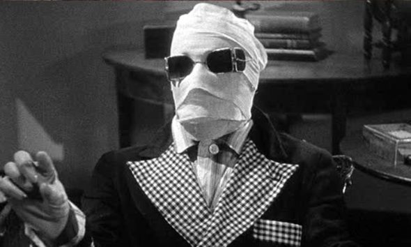Invisible Man 1933 Banner 590x354 - Release Date Announced for Blumhouse's INVISIBLE MAN; Remake Will Materialize in 2020