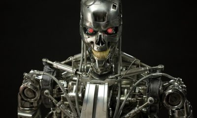 Life Sized Terminator endoskeleton Banner 400x240 - Image Gallery: Life-Size TERMINATOR Endoskeleton Available for Pre-Order Today