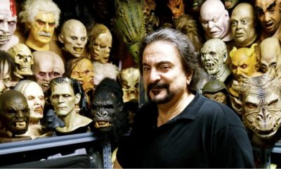 Savini with masks 400x240 - FX Icon Tom Savini Teams Up with Trick or Treat Studios for New Line of Zombie Face Masks