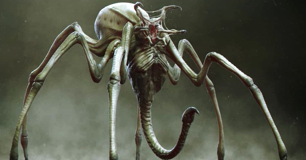 Spider Predator Hybrid - More Unused Concept Art from THE PREDATOR Reveals Creepy Crawly Spider Hybrid