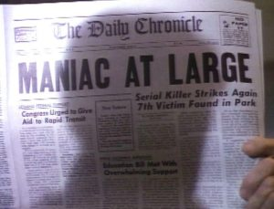 maniac1 300x229 - Exhuming TALES FROM THE CRYPT: A Maniac, a Puppet, and Twins Walk Into A Bar...