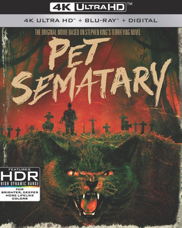 pet sematary - Standard & Steelbook Cover Art + First Special Features for PET SEMATARY 30th Anniversary 4K Ultra HD Reissue