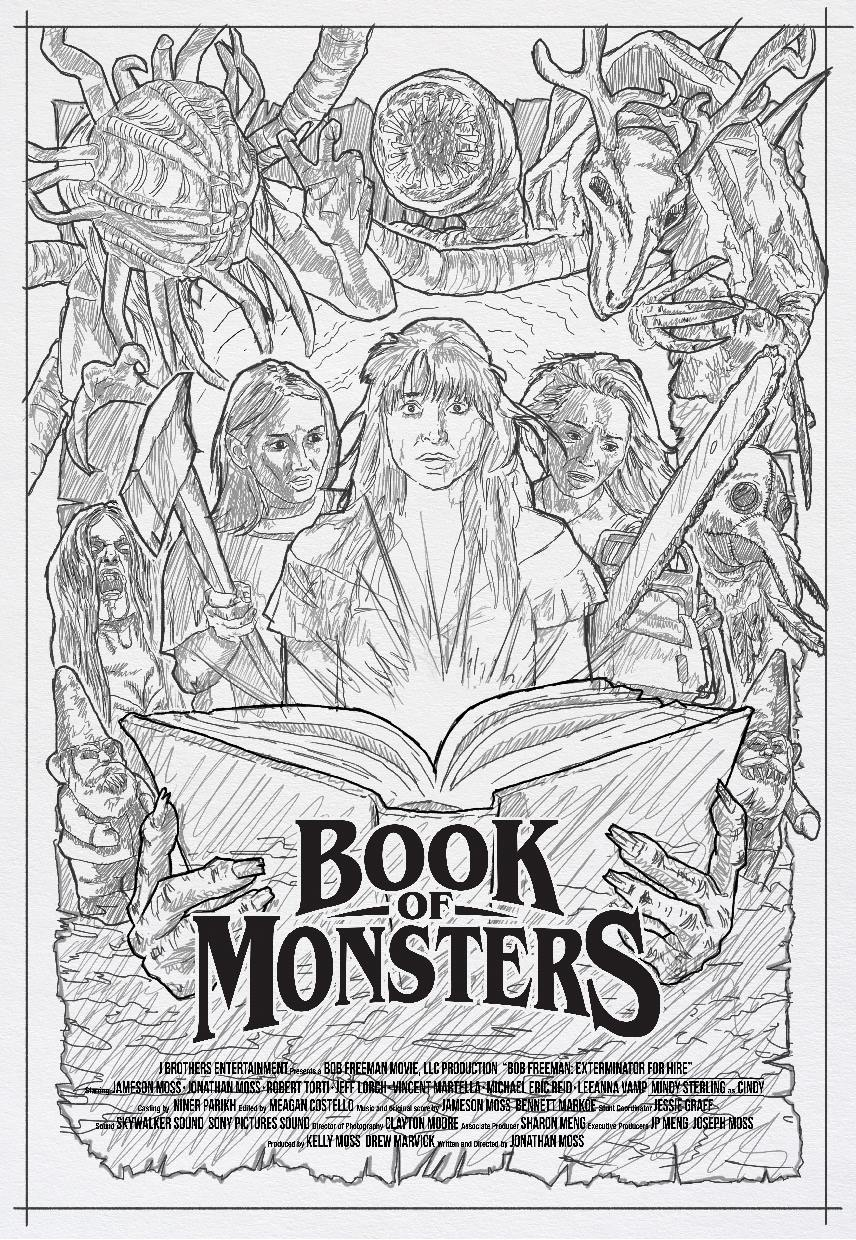 Book of Monsters Concept 1 - DREAD Presents: BOOK OF MONSTERS Poster and Blu-ray Artwork Explained