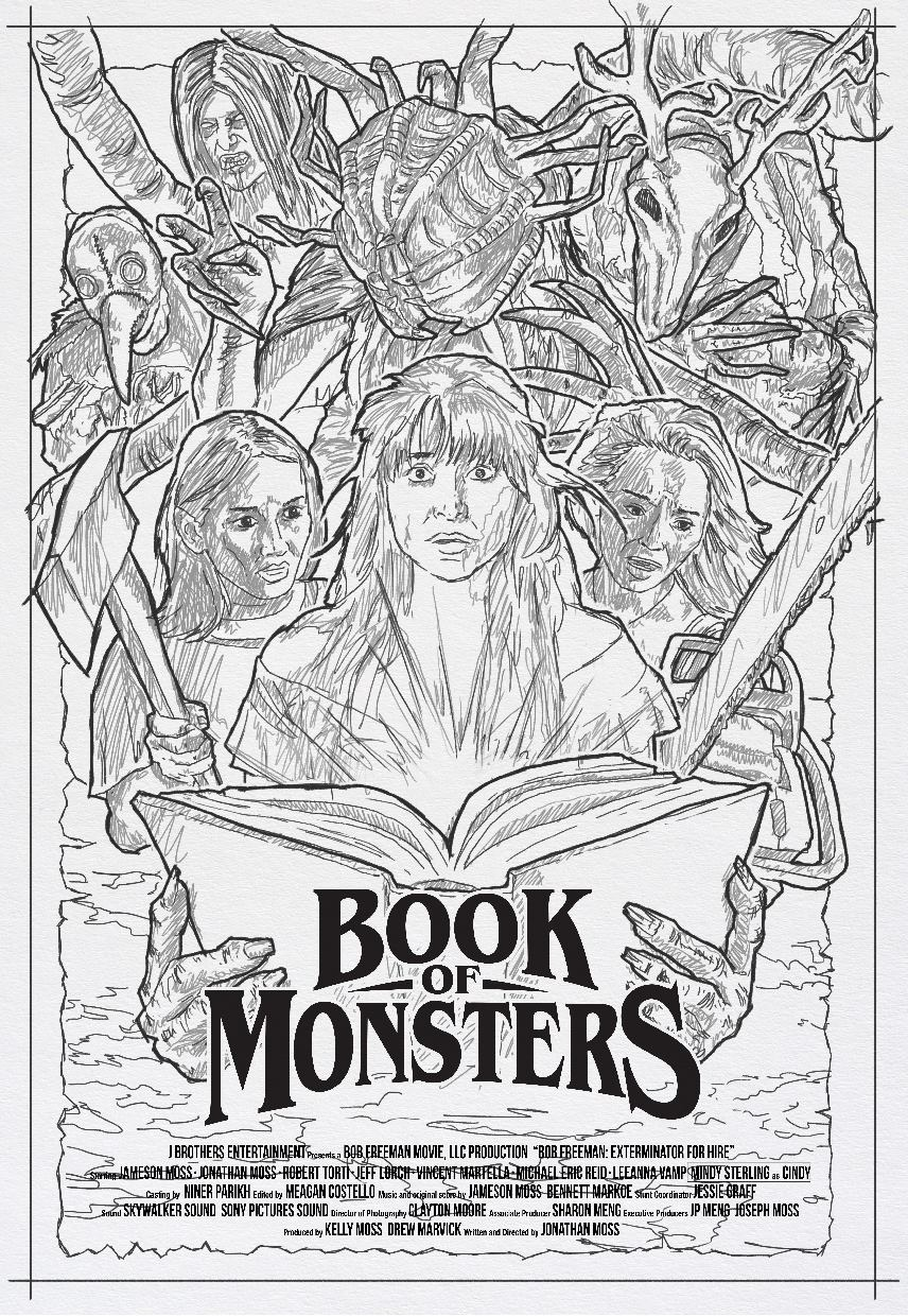 Book of Monsters Concept 2 - DREAD Presents: BOOK OF MONSTERS Poster and Blu-ray Artwork Explained