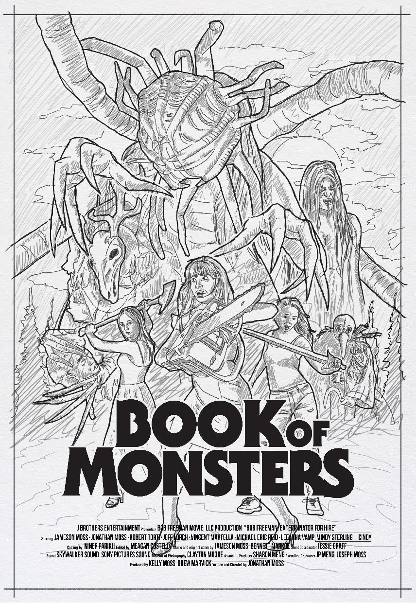 Book of Monsters Concept 3 - DREAD Presents: BOOK OF MONSTERS Poster and Blu-ray Artwork Explained