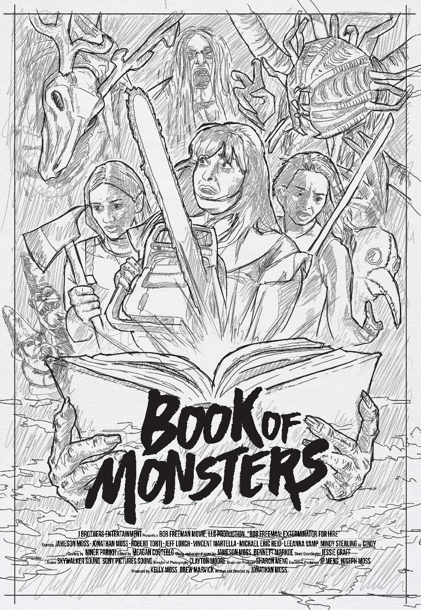 Book of Monsters Concept 4 - DREAD Presents: BOOK OF MONSTERS Poster and Blu-ray Artwork Explained