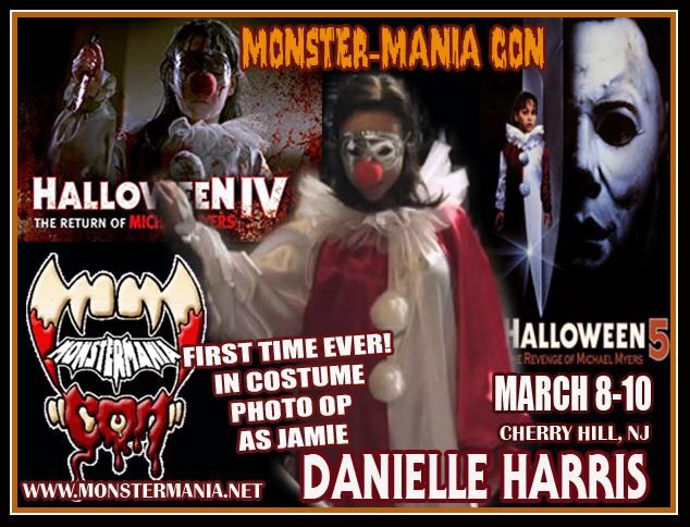 Danielle Harries Monster Mania 2019 - HALLOWEEN Franchise Fans Can Get Photos with Danielle Harris in Clown Costume