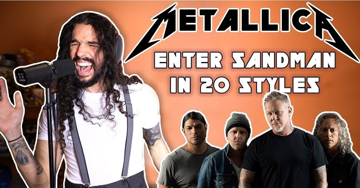 Enter Sandman in 20 Different Styles - Virtuoso Vocalist/Musician Performs ENTER SANDMAN in 20 Different Styles