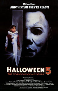Halloween 5 movie poster 192x300 - HALLOWEEN Franchise Fans Can Get Photos with Danielle Harris in Clown Costume