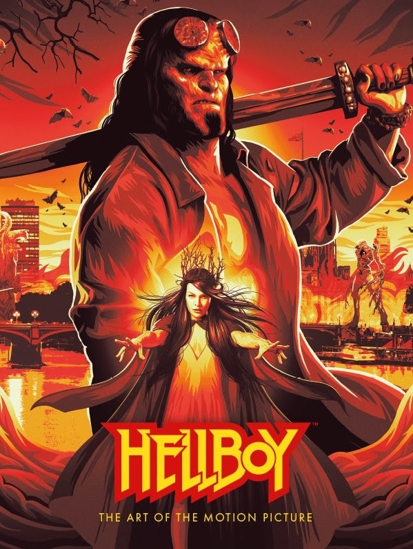 Hellboy The Art of the Film Cover - HELLBOY: THE ART OF THE MOTION PICTURE Hardcover Book Will Coincide with Movie Release