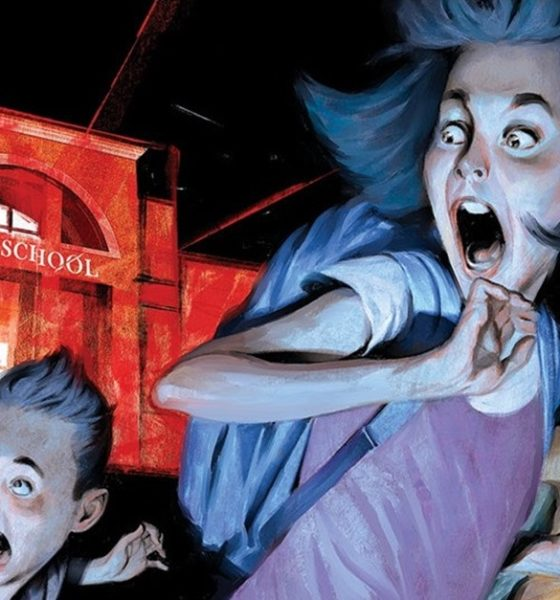 Just Beyond The Scare School Banner 560x600 - Gallery: First Look at R.L. Stine's JUST BEYOND: THE SCARE SCHOOL Original Graphic Novel
