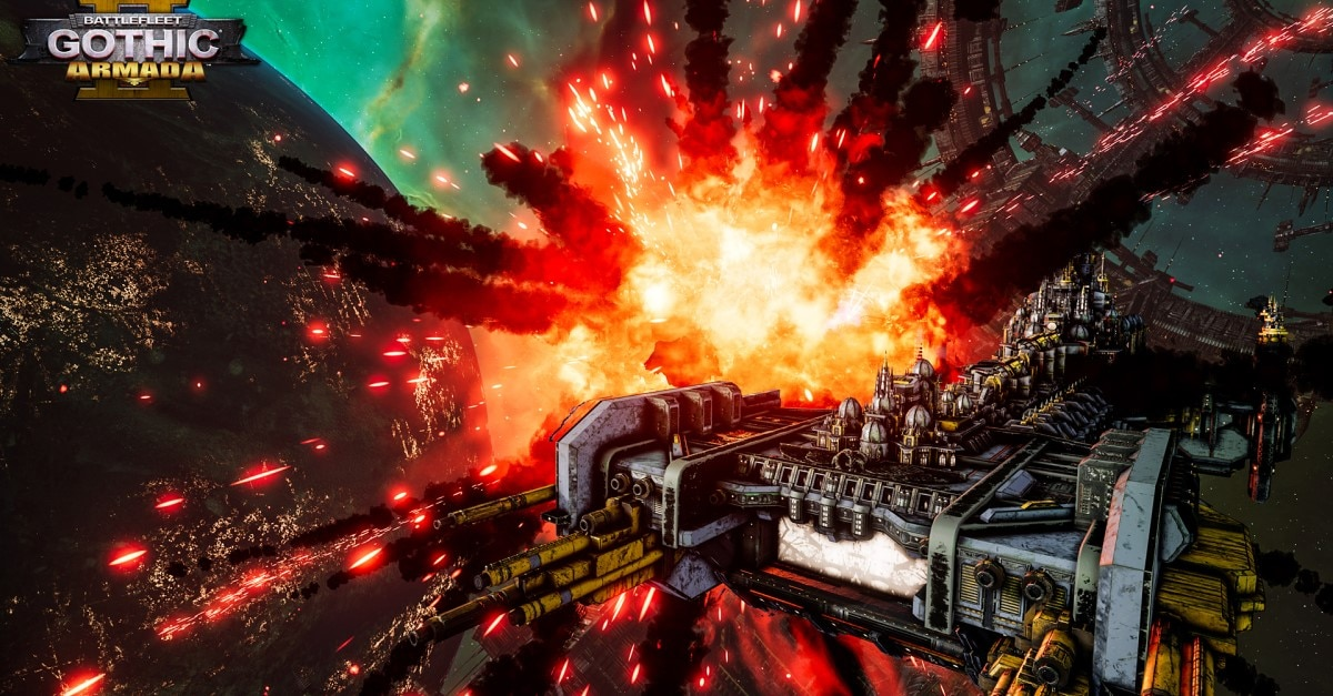 battlefleet Gothic Armada 2 featured - BATTLEFLEET GOTHIC: ARMADA II Review - Space Horror On Space Boats With Space Bugs
